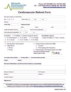 MMI- Cardiovascular Referral Form